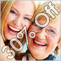 30% Off labor for senior citizens - 800 520 7044